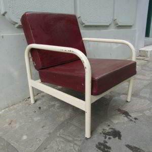 καρεκλοπολυθρόνα καρέκλα πολυθρόνα μεταλλική industrial μεταχειρισμένη vintage
