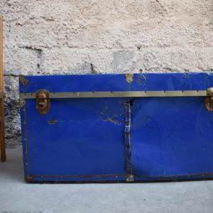 μπαούλο ξύλινο μεταλλική επένδυση industrial μεταχειρισμένο vintage retro