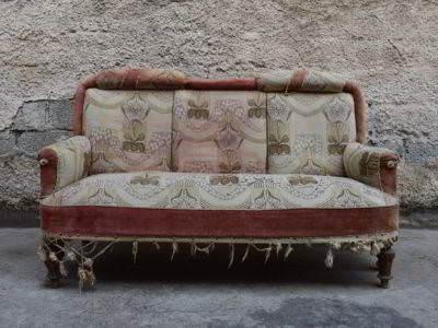 καναπές διθέσιος κλασικός μεταχειρισμένος vintage retro