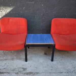 κάθισμα αναμονής πολυθρόνες καρέκλες τραπέζι βοηθητικό μεταχειρισμένο vintage retro