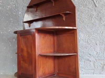 Μπουφές - ραφιέρα ξύλινη, με φθορά στο χρώμα, διαστάσεις 1,29 Χ 0,35 Χ 1,62.